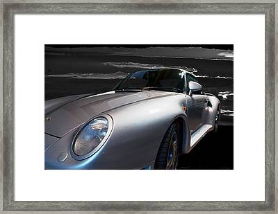 959 Porsche Framed Print by Paul Barkevich