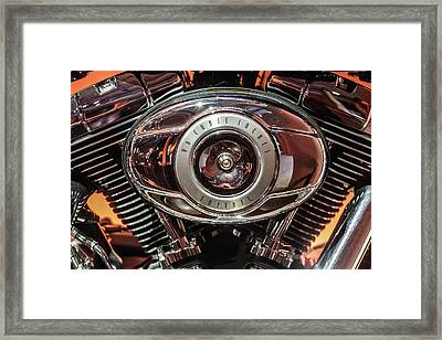 Framed Print featuring the photograph 96 Cubic Inches Softail by Randy Scherkenbach