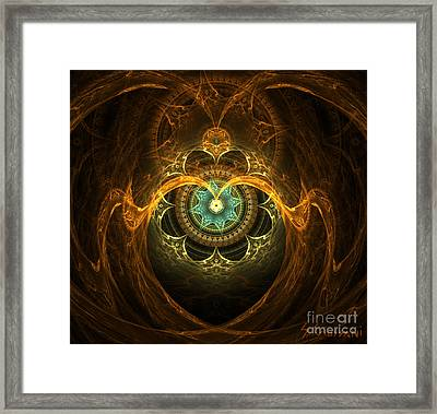 97-mandala From The Heart Framed Print by Silvia Giussani