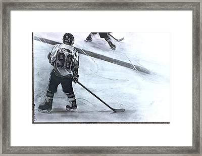 #98 Brown Framed Print by Gary Reising