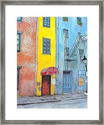 98  French Quarter Back Alley Framed Print by John Boles
