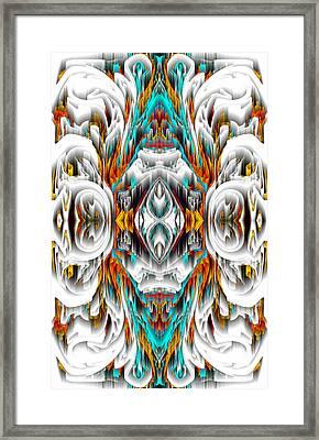 Framed Print featuring the digital art 992.042212mirror2ornategold-1-a by Kris Haas