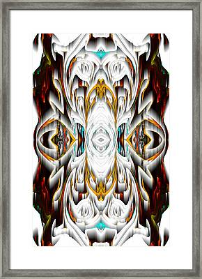Framed Print featuring the digital art 992.042212mirror2ornateredagold-1a-1 by Kris Haas
