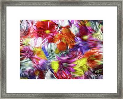 9a Abstract Expressionism Digital Painting Framed Print