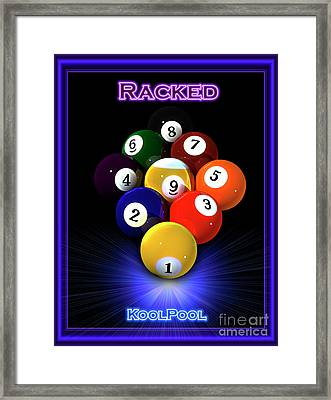 9ball Racked Framed Print by Draw Shots
