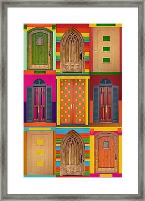 9doors Framed Print by Art Spectrum