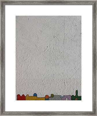 Framed Print featuring the painting  City 101   Oil On Board 16 X 20 2016 by Radoslaw Zipper