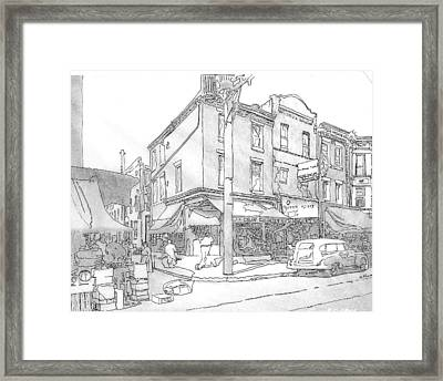 9th And League St., Phila.,pa  1954 Framed Print by Michael Cifone