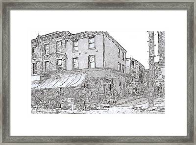 9th And League St.,phila.,pa  1954 Framed Print by Michael Cifone