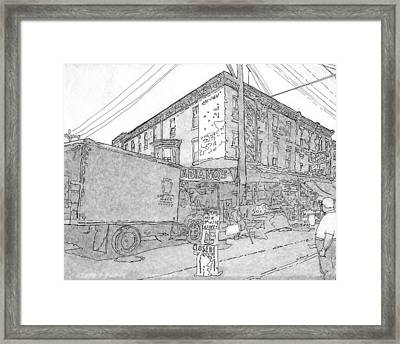 9th And Washington Ave.,phila.,pa   1954 Framed Print by Michael Cifone