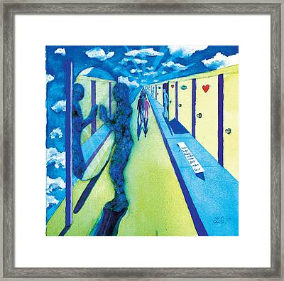 9th Step Framed Print by Lucinda Blackstone
