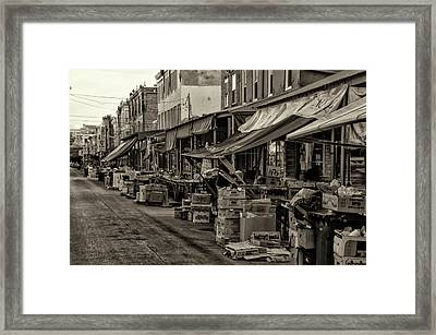 9th Street Italian Market - Philadelphia Pennsylvania Framed Print by Bill Cannon