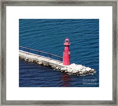 A-004 Algoma Lighthouse Wisconsin Framed Print