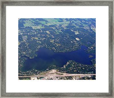 Framed Print featuring the photograph A-007 Altoona Lake Eau Claire Wisconsin by Bill Lang