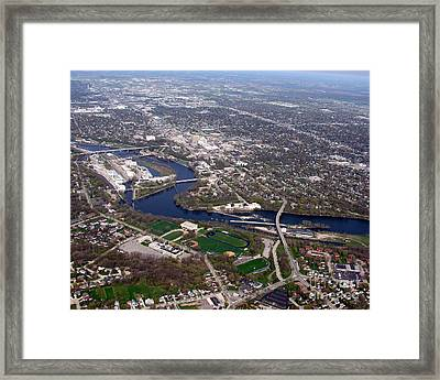 A-009 Appleton Wisconsin Downtown Framed Print by Bill Lang