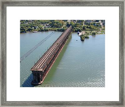 Framed Print featuring the photograph A-010 Ashland Wisconsin Ore Dock by Bill Lang