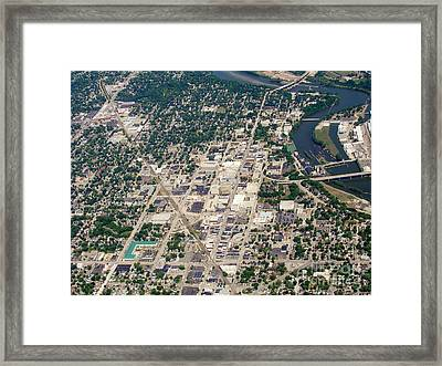 Framed Print featuring the photograph A-011 Appleton Wisconsin Collage Avenue by Bill Lang