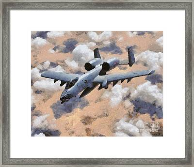 A-10 Tank Buster Framed Print by Esoterica Art Agency