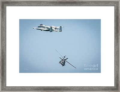 A-10 Thunderbolt II And The Blackhawk Framed Print by Rene Triay Photography
