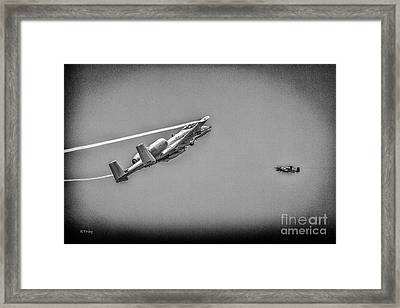 A-10 Thunderbolt II Making Their Pass Bw Framed Print by Rene Triay Photography