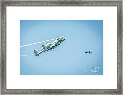 A-10 Thunderbolt II Making Their Pass Framed Print by Rene Triay Photography