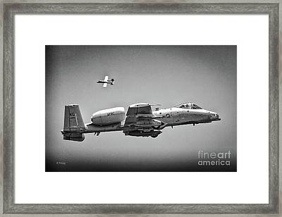 A-10 Thunderbolt II Maneuvers Bw Framed Print by Rene Triay Photography