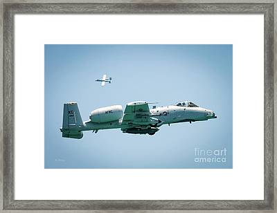 A-10 Thunderbolt II Maneuvers Framed Print by Rene Triay Photography