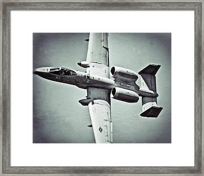 A-10 Warthog  Framed Print by Pair of Spades