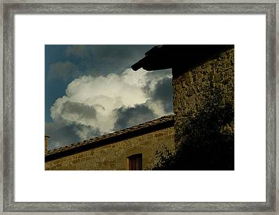 A 10th Century Tuscan Villa Framed Print by Todd Gipstein