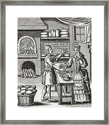 A 16th Century Baker S Shop. From Framed Print