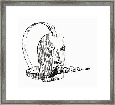A 17th Century Brank Or Muzzle. From Framed Print by Vintage Design Pics