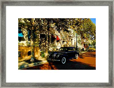 A 1940s Street Scene Framed Print by David Lee Thompson