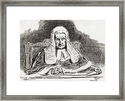 A 19th Century Old Bailey Judge. From Framed Print by Vintage Design Pics