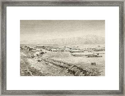 A 19th Century Overall View Of Framed Print by Vintage Design Pics