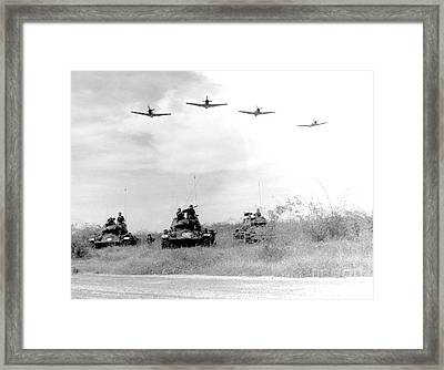 A-1h Aircraft Make A Low Level Pass Framed Print by Stocktrek Images