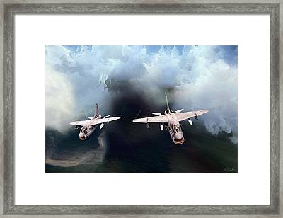 A-7 Clansmen Framed Print by Peter Chilelli