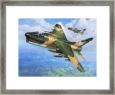 A-7d Corsair II Framed Print