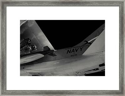 A-7e Corsair II Fighter Framed Print by Eugene Campbell