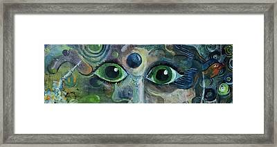 A Astronaut Dreams Of Her Infinite Cosmos Framed Print by Jame Hayes
