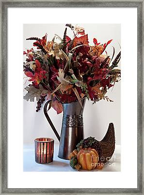 A Autumn Day Framed Print by Sherry Hallemeier