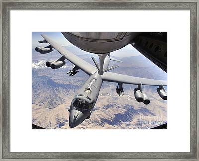 A B-52 Stratofortress Receives Fuel Framed Print