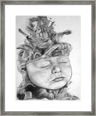 A Babies Dreams Framed Print by Bernd Fuerlinger