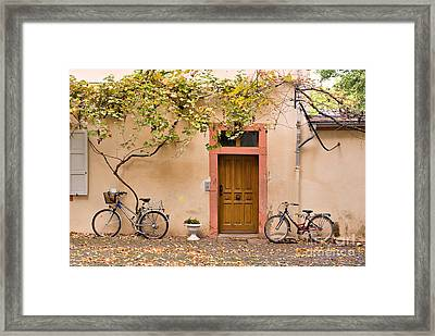 A Back Lane In Speyer Framed Print by Louise Heusinkveld