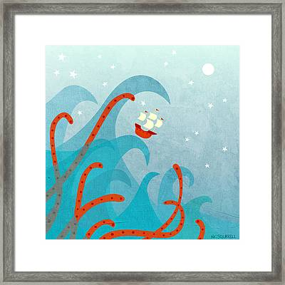 A Bad Day For Sailors Framed Print by Nic Squirrell