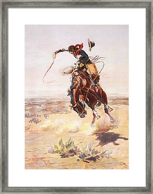 A Bad Hoss Framed Print by Charles Russell