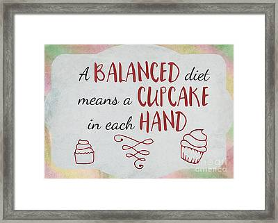 A Balanced Diet Framed Print by Terry Weaver