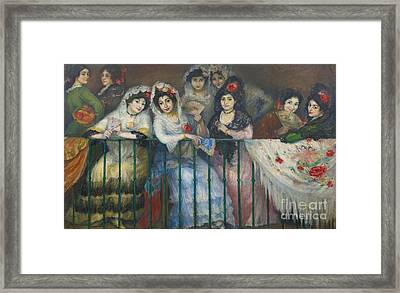A Balcony At The Bullfight Framed Print by MotionAge Designs