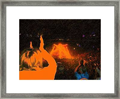 Framed Print featuring the photograph A Band Beyond Description by Susan Carella