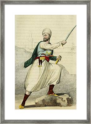 A Barbary Pirate Captain. Ca. 1800 Framed Print by Everett