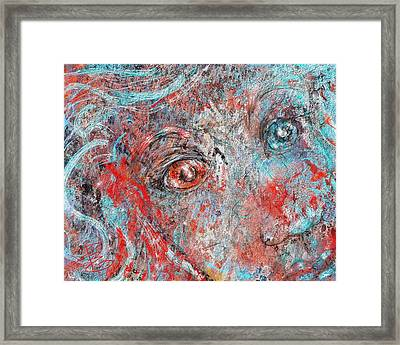 A Bare And Broken Rocky Face Framed Print